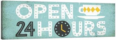 Retro Diner (Open 24 Hours II) Canvas Art Print