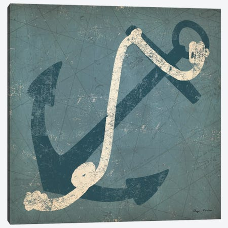 Nautical Anchor (Blue) Canvas Print #WAC3933} by Ryan Fowler Canvas Wall Art