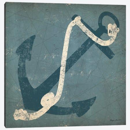 Nautical Anchor (Blue) Canvas Print #WAC3933} by Ryan Fowler Canvas Wall Art