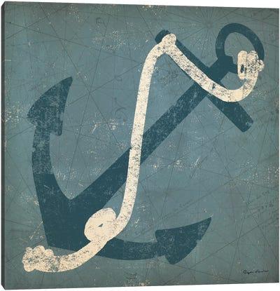 Nautical Anchor (Blue) Canvas Art Print