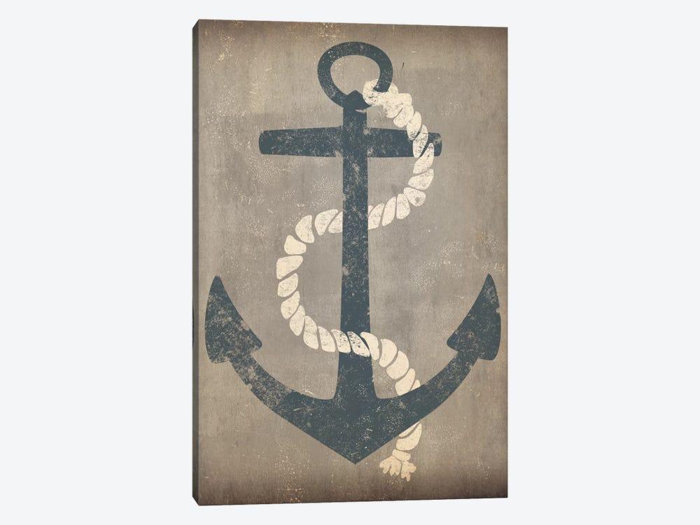 Nautical Anchor (Grey) by Ryan Fowler 1-piece Canvas Print
