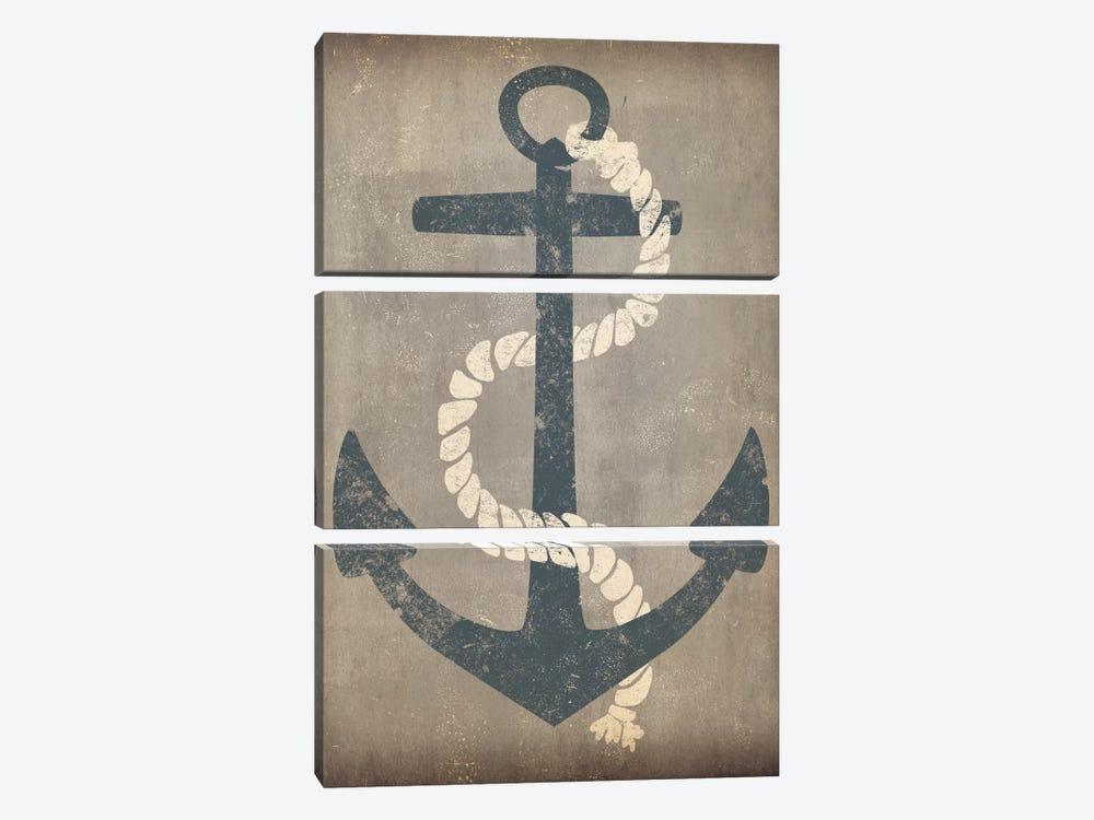 Nautical Anchor (Grey) by Ryan Fowler 3-piece Canvas Print