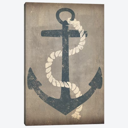 Nautical Anchor (Grey) Canvas Print #WAC3934} by Ryan Fowler Canvas Print