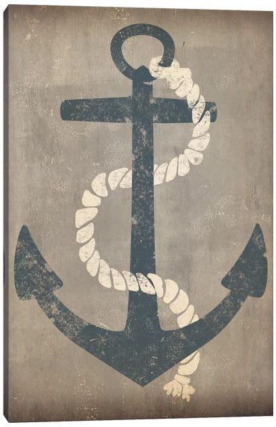 Nautical Anchor (Grey) Canvas Print #WAC3934
