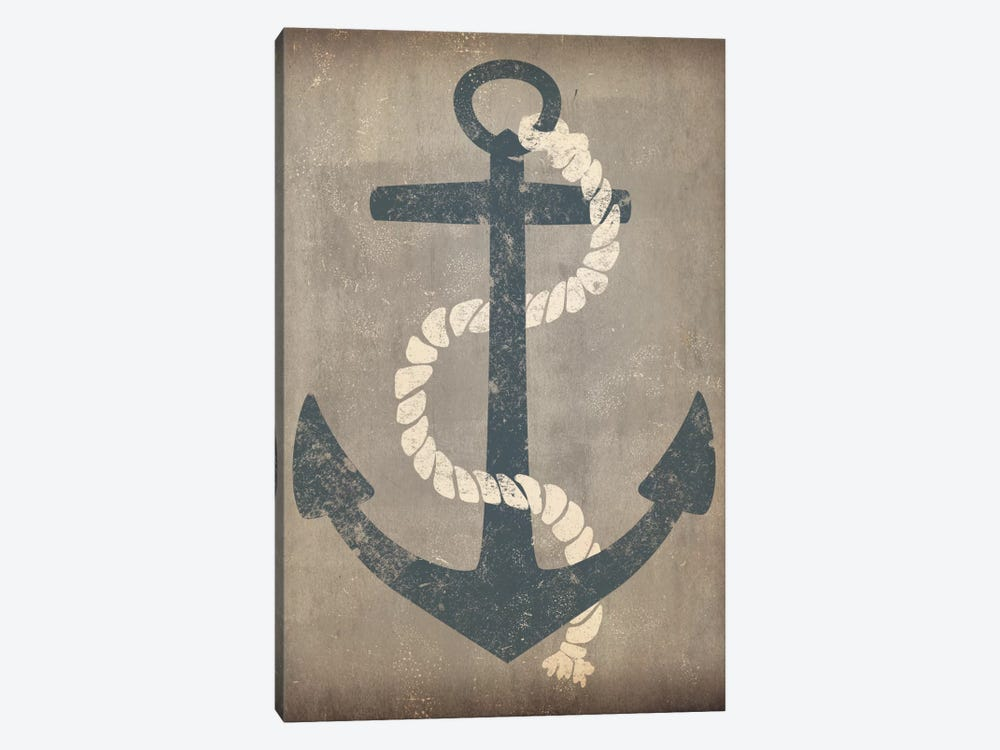 Nautical Anchor (Grey) by Ryan Fowler 1-piece Canvas Print
