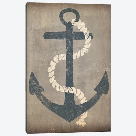 Nautical Anchor (Grey) Canvas Print #WAC3934} by Ryan Fowler Canvas Print