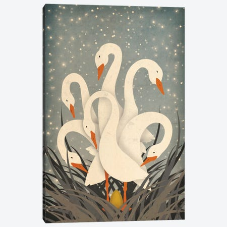 Six Geese A Laying Canvas Print #WAC3935} by Ryan Fowler Canvas Print
