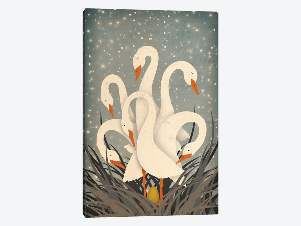 Six Geese A Laying by Ryan Fowler 1-piece Canvas Artwork