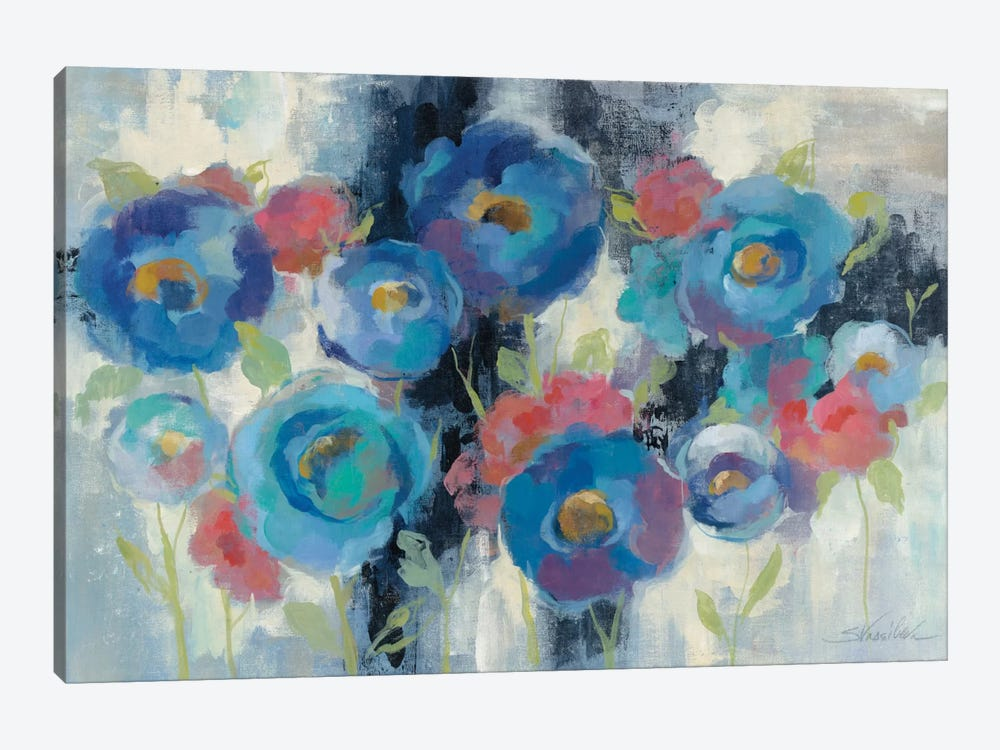 Day and Night Florals I by Silvia Vassileva 1-piece Canvas Artwork