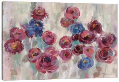 Frosted Marsala Florals Canvas Print #WAC3938