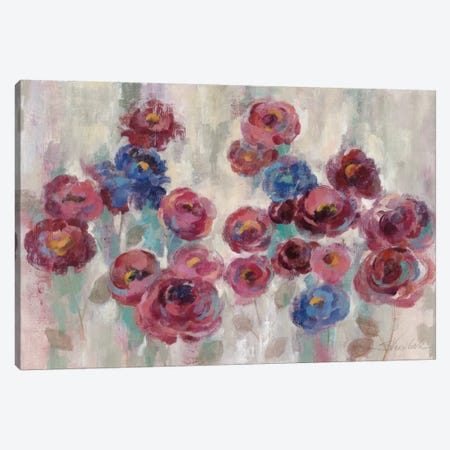 Frosted Marsala Florals Canvas Print #WAC3938} by Silvia Vassileva Canvas Wall Art