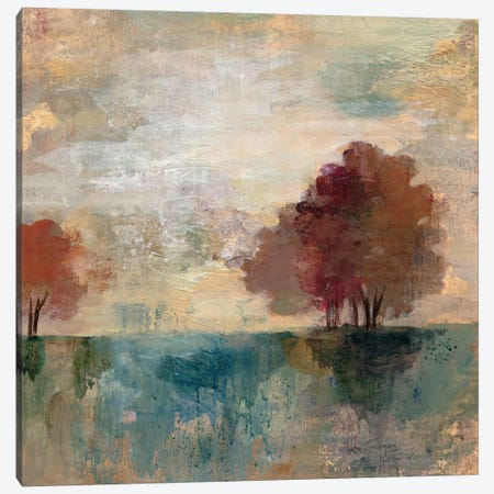 Landscape Monotype I Canvas Print #WAC3939} by Silvia Vassileva Canvas Artwork