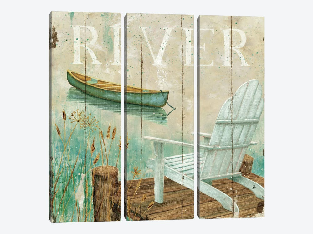 Waterside IV by Daphne Brissonnet 3-piece Canvas Wall Art