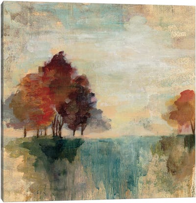 Landscape Monotype II by Silvia Vassileva Canvas Art Print