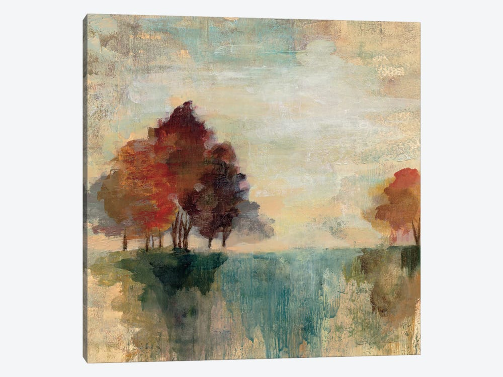 Landscape Monotype II by Silvia Vassileva 1-piece Canvas Art