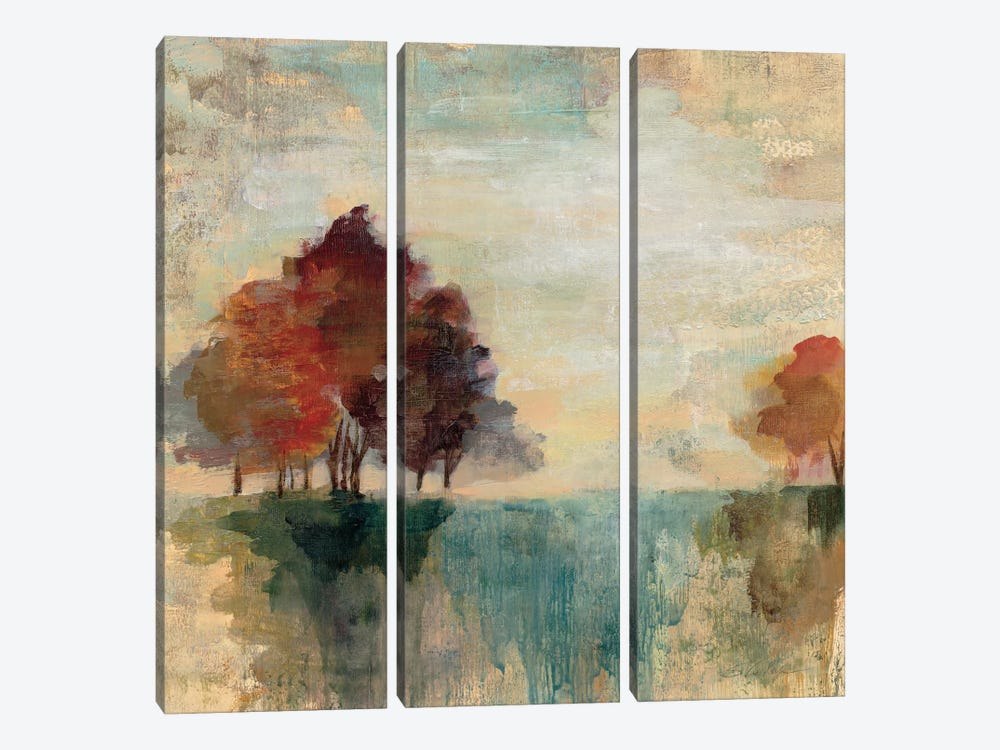 Landscape Monotype II by Silvia Vassileva 3-piece Canvas Wall Art