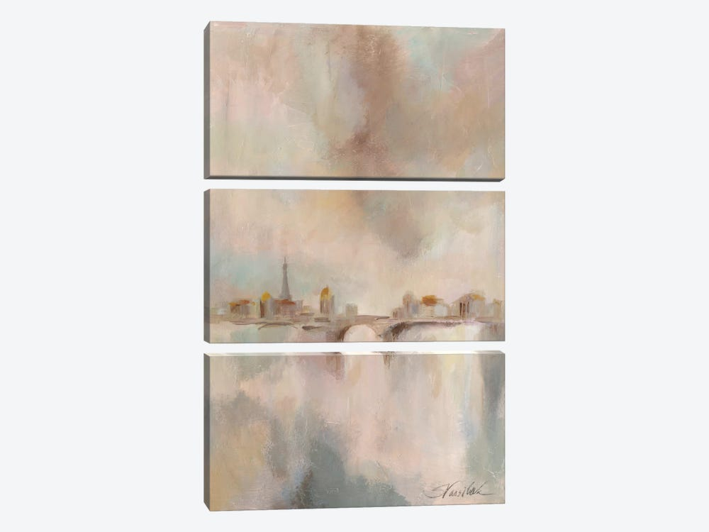 Paris Morning Mist I by Silvia Vassileva 3-piece Art Print
