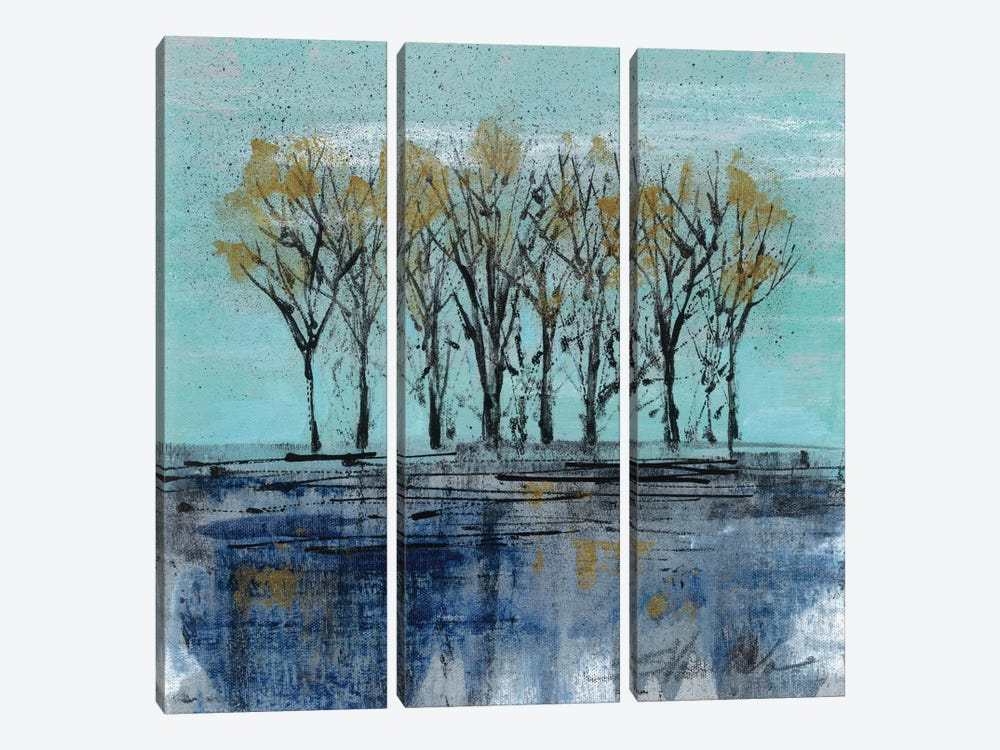 Trees at Dawn I 3-piece Canvas Print