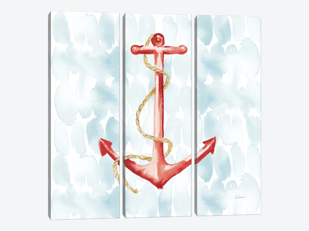 Anchor Dots I by Sue Schlabach 3-piece Canvas Art Print