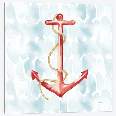 Anchor Dots I 3-Piece Canvas #WAC3945} by Sue Schlabach Canvas Wall Art