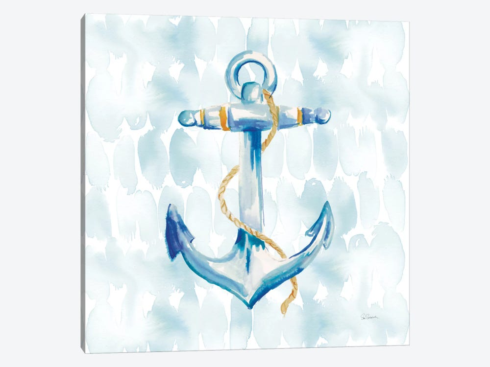 Anchor Dots II by Sue Schlabach 1-piece Canvas Wall Art
