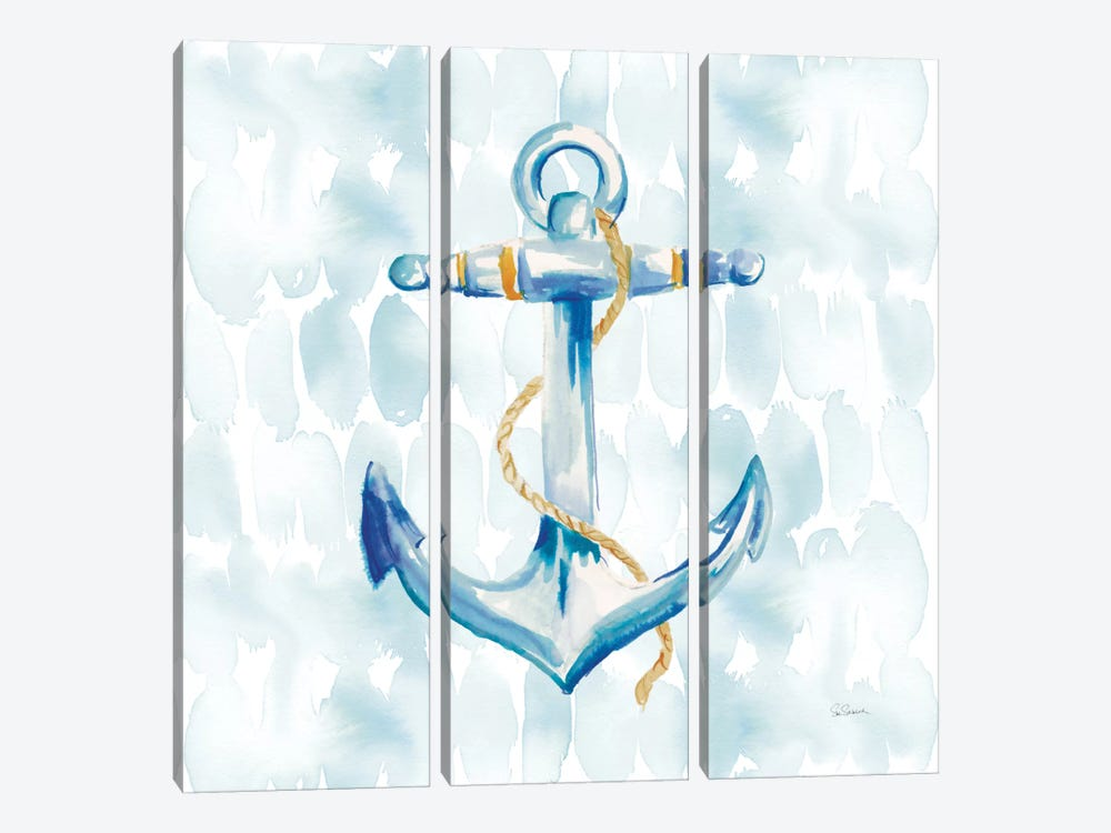 Anchor Dots II 3-piece Canvas Wall Art