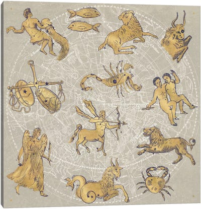 Gilded Zodiac Canvas Art Print