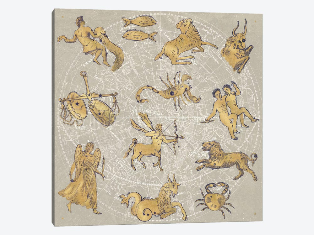 Gilded Zodiac by Sue Schlabach 1-piece Art Print