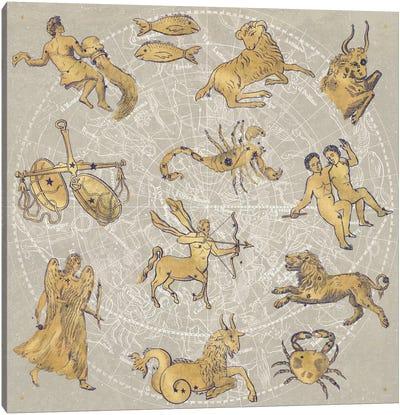 Gilded Zodiac Canvas Art Print