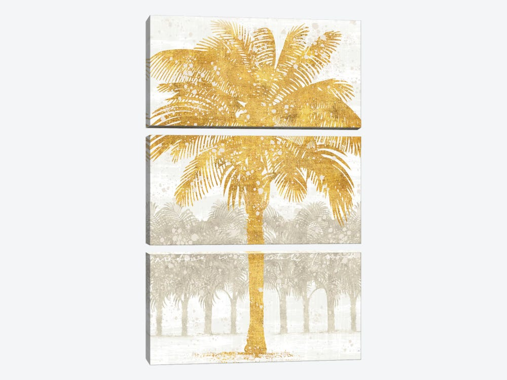 Palm Coast II by Sue Schlabach 3-piece Canvas Print