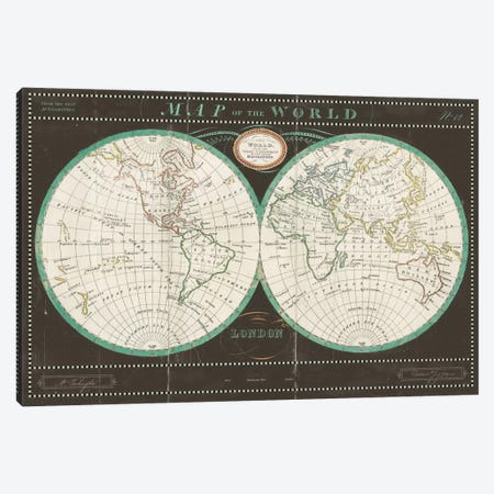 Torkingtons World Map Slate Canvas Print #WAC3963} by Sue Schlabach Art Print