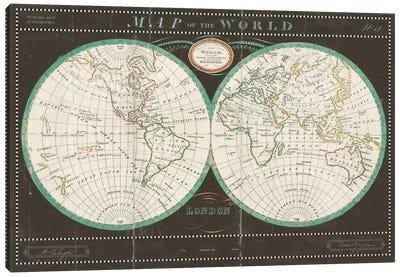 Torkingtons World Map Slate Canvas Art Print