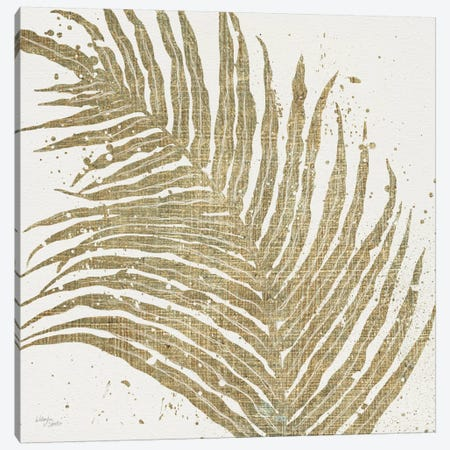 Gold Leaves I Canvas Print #WAC3967} by Wellington Studio Canvas Art