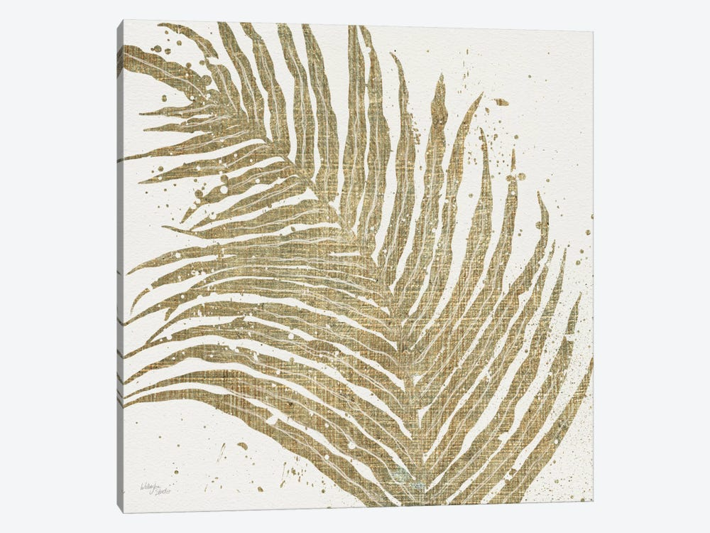 Gold Leaves I 1-piece Canvas Print