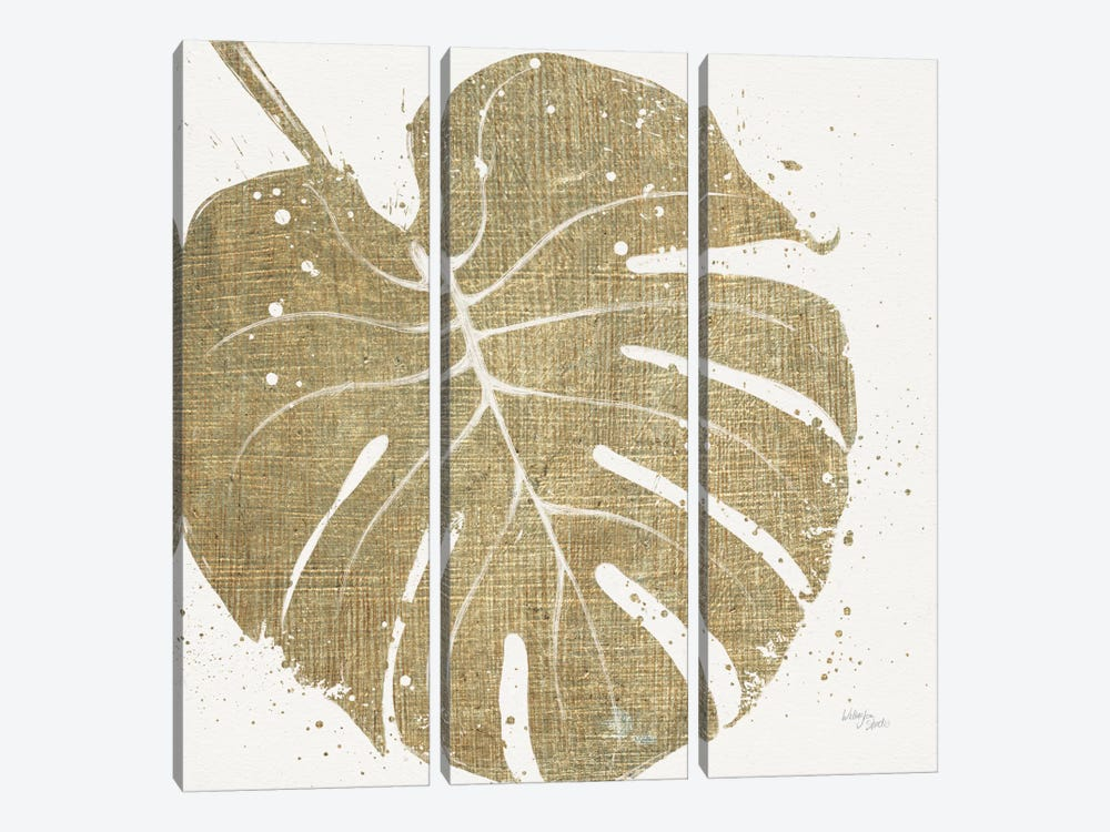 Gold Leaves III by Wellington Studio 3-piece Canvas Art Print
