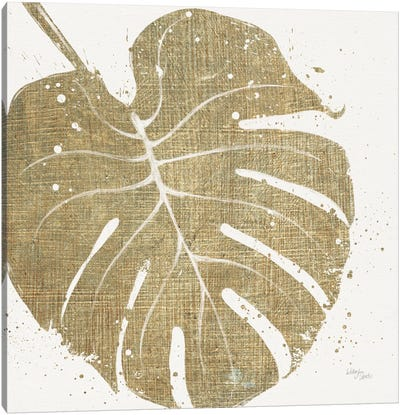 Gold Leaves III Canvas Art Print