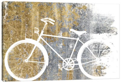 Gilded Bicycle Canvas Art Print
