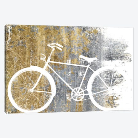Gilded Bicycle 3-Piece Canvas #WAC3974} by Wild Apple Portfolio Art Print