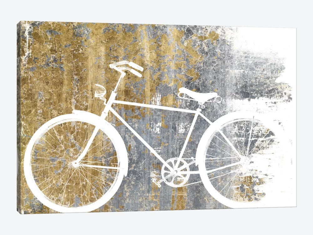 Gilded Bicycle by Wild Apple Portfolio 1-piece Art Print