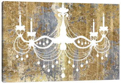 Gilded Chandelier Canvas Art Print
