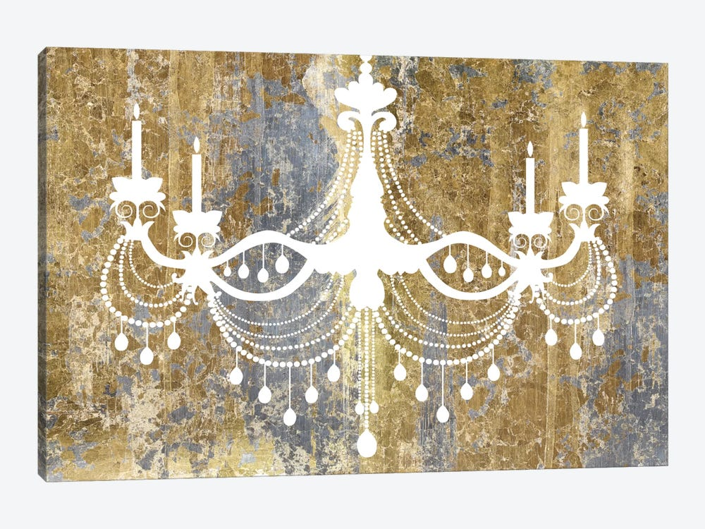 Gilded Chandelier By Wild Apple Portfolio 1 Piece Canvas Art