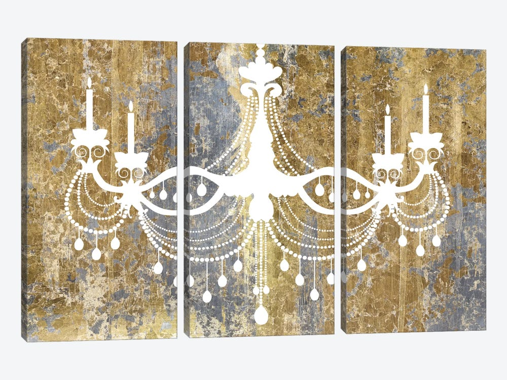 Gilded Chandelier 3-piece Canvas Wall Art