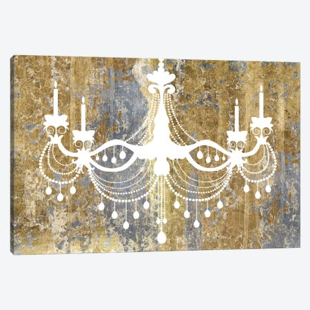 Gilded Chandelier Canvas Print #WAC3975} by Wild Apple Portfolio Art Print