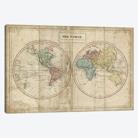 Old World (Eastern Hemisphere), New World (Western Hemisphere) Canvas Print #WAC3976} by Wild Apple Portfolio Canvas Art Print