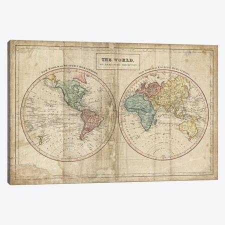 Old World (Eastern Hemisphere), New World (Western Hemisphere) Canvas Print #WAC3976} by Wild Apple Portfolio Canvas Art Print