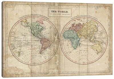 Old World (Eastern Hemisphere), New World (Western Hemisphere) Canvas Art Print