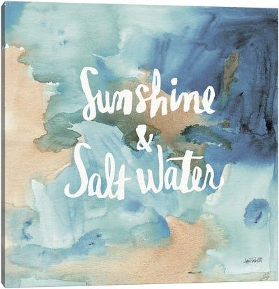 Coastal Breeze Quotes I Canvas Print #WAC3981