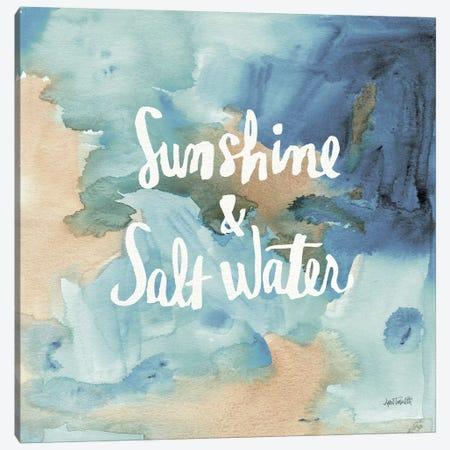 Coastal Breeze Quotes I Canvas Print #WAC3981} by Anne Tavoletti Canvas Print