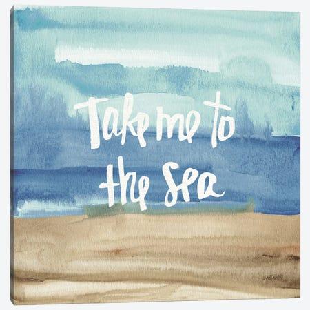 Coastal Breeze Quotes II Canvas Print #WAC3982} by Anne Tavoletti Art Print