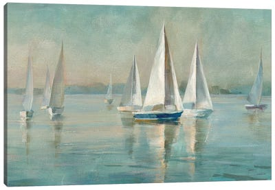 Sailboats at Sunrise Canvas Art Print